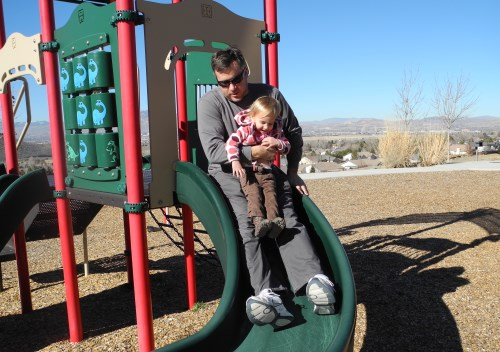 Fathers Day in the park, Reno, Nevada