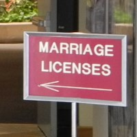 Reno marriage license, Washoe County, Nevada, NV