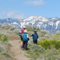 Hiking at Washoe Lake State Park, Nevada