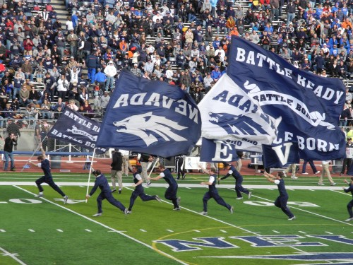 Nevada Wolf Pack cheer squad, Mackay Stadium, Reno