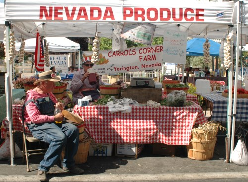 Produce and food grown in Nevada