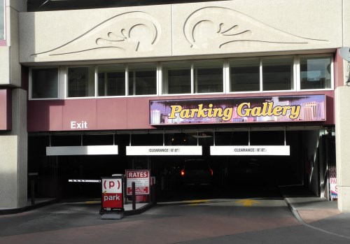 Parking Gallery garage in downtown Reno, Nevada, NV